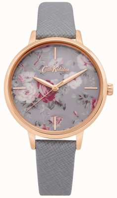 Cath Kidston | damski zegarek z paskami brampton szary skórzany pasek | CKL069ERG