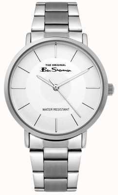Ben Sherman | Męski zegarek skryptowy | bransoleta ze stali nierdzewnej | biała tarcza BS014SM