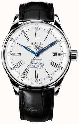 Ball Watch Company Trainmaster endeavor chronometr z limitowanej edycji skóry NM3288D-LL2CJ-WH