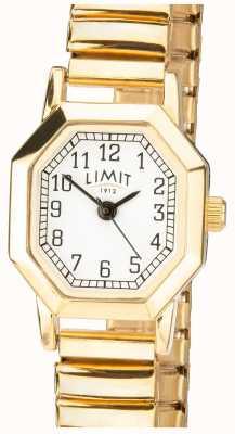 Limit | damska złota bransoletka z możliwością rozbudowy | biała tarcza | 6498
