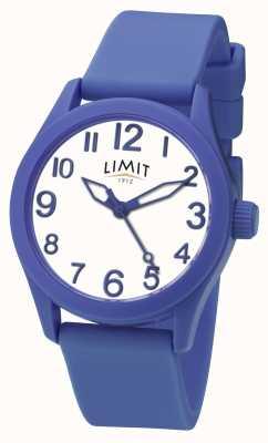 Limit | niebieski pasek silikonowy | biała tarcza | 5719
