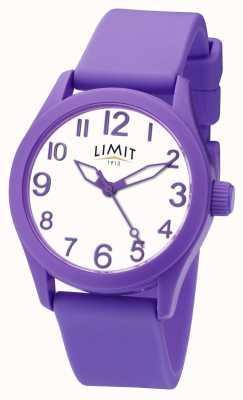 Limit | fioletowy pasek silikonowy | biała tarcza | 5722