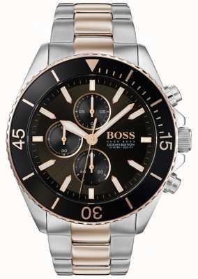 Boss | edycja oceanu morskiego | dwukolorowa stal nierdzewna | czarna tarcza 1513705