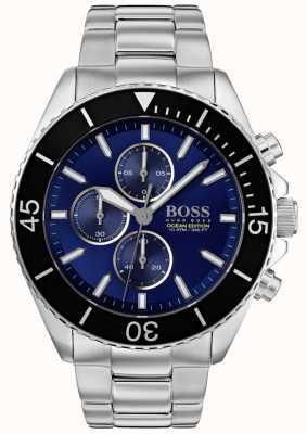 BOSS | edycja oceanu morskiego | srebrna stal nierdzewna | niebieska tarcza | 1513704