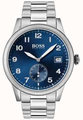 Hugo Boss | zegarek męski spuścizna | stal nierdzewna | niebieska tarcza | 1513707