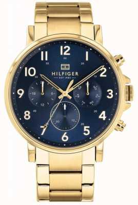 Tommy Hilfiger | zegarek męski złoty i granatowy Daniel 1710384