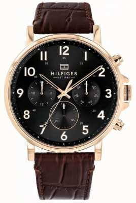Tommy Hilfiger | brązowy skórzany zegarek męski Daniel 1710379