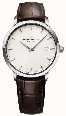 Raymond Weil | męski brązowy skórzany zegarek toccata | 5488-STC-40001