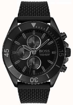 Boss | edycja oceanu dla mężczyzn | czarna tarcza | czarny pasek | 1513699