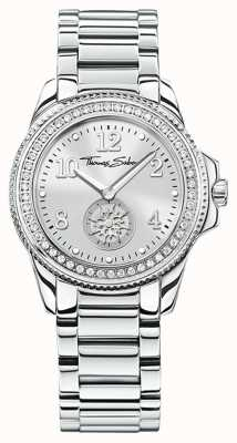 Thomas Sabo | damski zegarek ze stali nierdzewnej glam & soul | srebrna tarcza | WA0235-201-201-33
