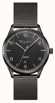Thomas Sabo | czarna bransoletka ze stali nierdzewnej | czarna tarcza | WA0342-202-203-40