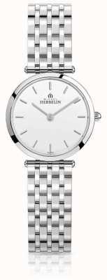 Michel Herbelin | kobiety | epsilon | bransoleta ze stali nierdzewnej | biała tarcza | 17116/B11