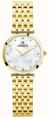 Michel Herbelin | kobiety | epsilon | tarcza z masy perłowej | złota bransoletka | 17116/BP89