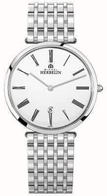 Michel Herbelin | męskie | epsilon | wyjątkowo płaska bransoleta ze stali nierdzewnej | 19416/B01N