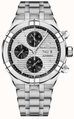 Maurice Lacroix Aikon automatyczna bransoleta ze stali nierdzewnej z chronografem AI6038-SS002-132-1