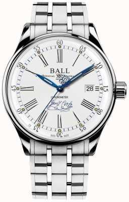 Ball Watch Company Trainmaster endeavor chronometer bransoletka limitowana edycja NM3288D-S2CJ-WH