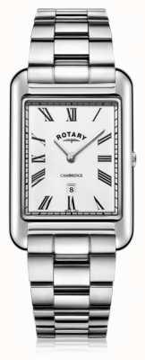 Rotary | męska bransoleta ze stali nierdzewnej | biała tarcza | GB05280/01