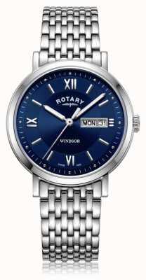 Rotary | bransoleta ze stali szlachetnej | niebieska tarcza | GB05300/66