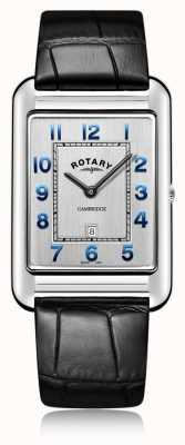 Rotary | męski czarny skórzany pasek data | GS05280/70