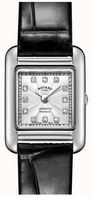 Rotary   damski zegarek z czarnej skóry   LS05285/70/D