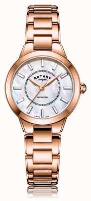 Rotary   Damska bransoletka z różowego złota   LB05379/41