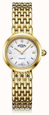 Rotary | bransoleta damska złota | tarcza z masy perłowej LB00900/41/D