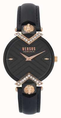 Versus Versace | czarny skórzany pasek damski | VSPLH1419