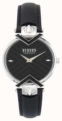 Versus Versace | czarny skórzany pasek damski | VSPLH0119