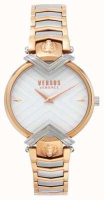 Versus Versace | bransoletka damska dwukolorowa | biała tarcza | VSPLH0719