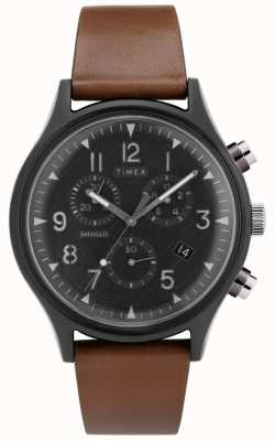 Timex   mk1 stal supernowa chrono   zegarek ze skóry   TW2T29600D7PF