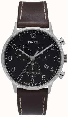 Timex | męskie waterbury classic chrono | czarna tarcza | TW2T28200D7PF