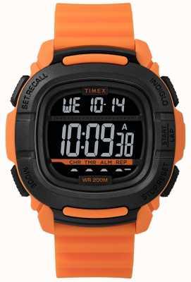 Timex | wzmocnienie szoku pomarańczowe i czarne cyfrowe | TW5M26500SU