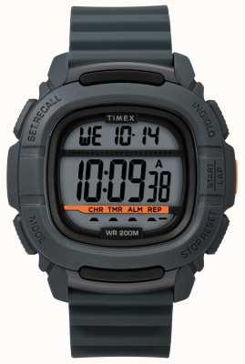 Timex | zwiększ szok cyfrowy szary | gumowy pasek TW5M26700SU