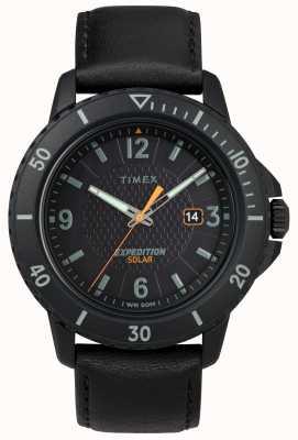 Timex | czarna skóra z galatyny słonecznej | czarna tarcza | TW4B14700D7PF
