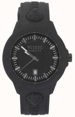 Versus Versace | damski czarny zegarek | pasek silikonowy | VSPOY2318