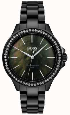 BOSS | damski czarny zegarek ze stali nierdzewnej | 1502456