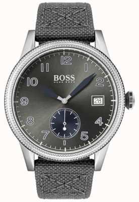 BOSS | szary pasek z płótna męskiego | starszy zegarek | 1513683