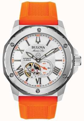 Bulova | męskie | gwiazda morska | automatyczne | pomarańczowy gumowy pasek | 98A226