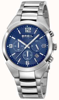 Breil | męski pasek ze stali nierdzewnej | niebieska tarcza | TW1328