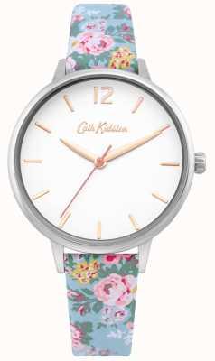 Cath Kidston | damski jasny niebieski pasek kwiatowy | biała tarcza | CKL067U