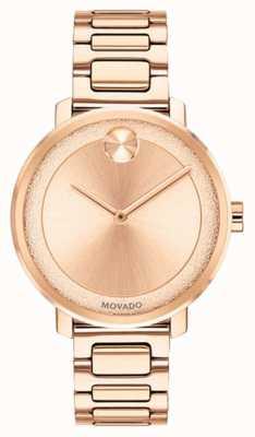 Movado Pogrubienie | zegarek z pozłacanego złota | 3600503