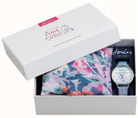 Joules | damski zestaw podarunkowy do zegarka i szalika | JSL015USSET