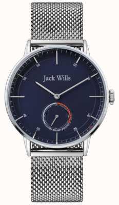 Jack Wills | mężczyzna batson ii | bransoleta z siatki stalowej | niebieska tarcza | JW002BLMH