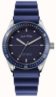 Jack Wills | młyn młyński | niebieski pasek gumowy | niebieska tarcza | JW015RBBL