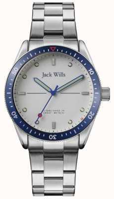 Jack Wills | młyn młyński | bransoleta ze stali nierdzewnej | srebrna tarcza | JW015SLSL