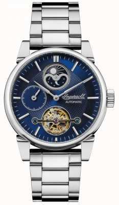 Ingersoll | mężczyzna huśtawka | bransoleta ze stali nierdzewnej | niebieska tarcza | I07501