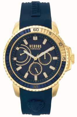 Versus Versace | męskie aberdeen | niebieski pasek gumowy | niebieska tarcza | VSPLO0219