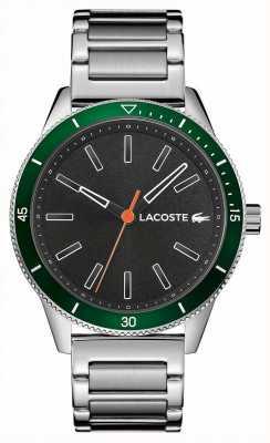 Lacoste | męski key west | bransoleta ze stali nierdzewnej | szara tarcza | 2011009