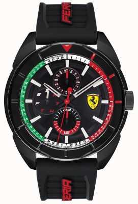 Scuderia Ferrari | mężczyzna forza | czarny gumowy pasek | czarna tarcza chronografu | 0830577
