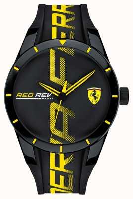 Scuderia Ferrari | redrev męskie | czarny pasek z gumy | czarna tarcza | 0830615